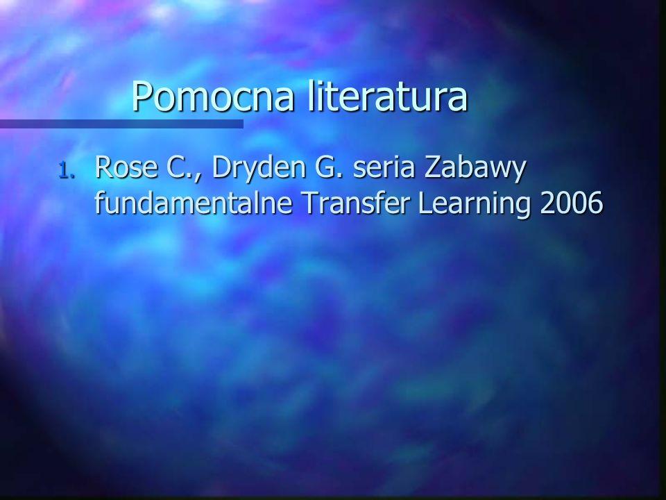 Pomocna literatura Rose C., Dryden G. seria Zabawy fundamentalne Transfer Learning 2006