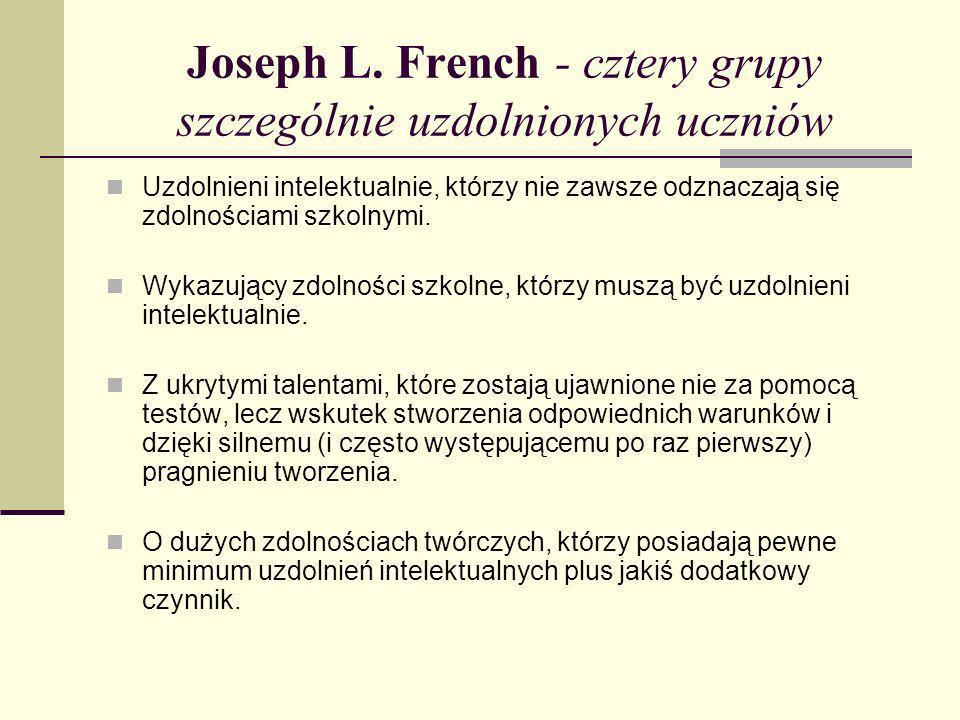 Joseph L. French - cztery grupy szczególnie uzdolnionych uczniów