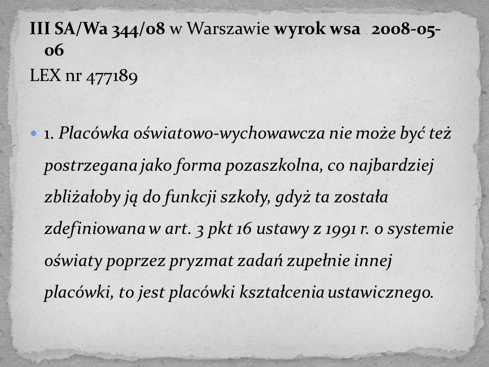 III SA/Wa 344/08 w Warszawie wyrok wsa 2008-05- 06