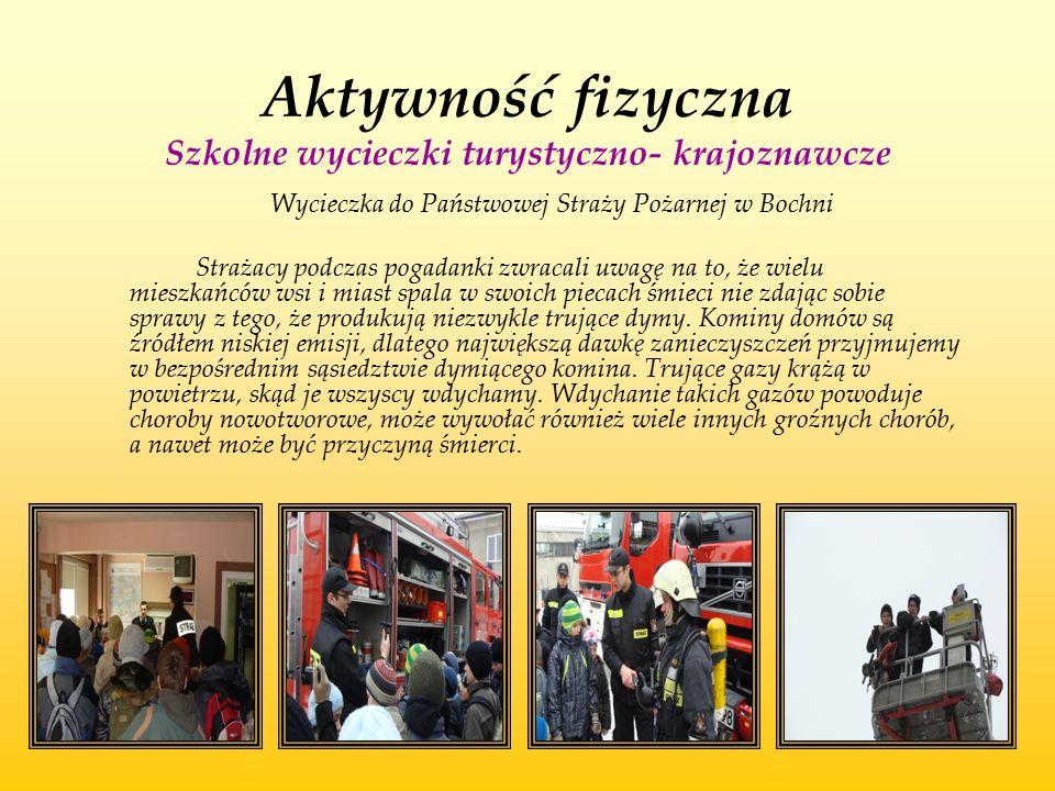 Aktywność fizyczna Szkolne wycieczki turystyczno- krajoznawcze