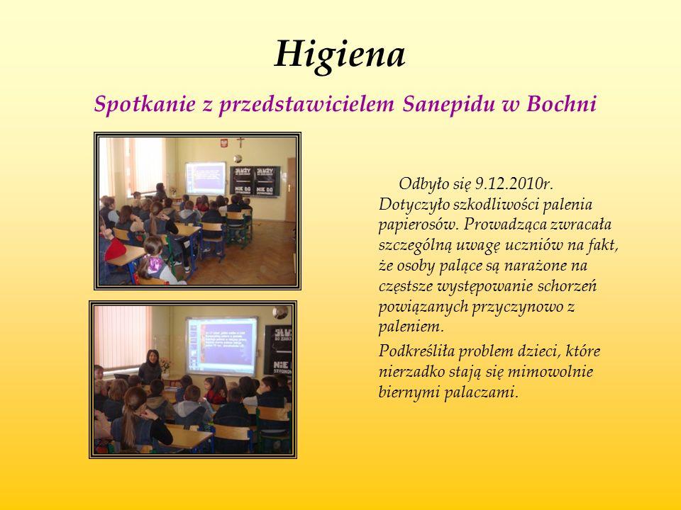 Higiena Spotkanie z przedstawicielem Sanepidu w Bochni
