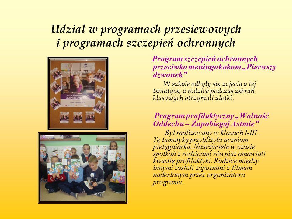 Udział w programach przesiewowych i programach szczepień ochronnych