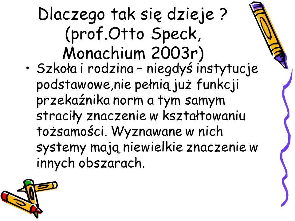 Dlaczego tak się dzieje (prof.Otto Speck, Monachium 2003r)