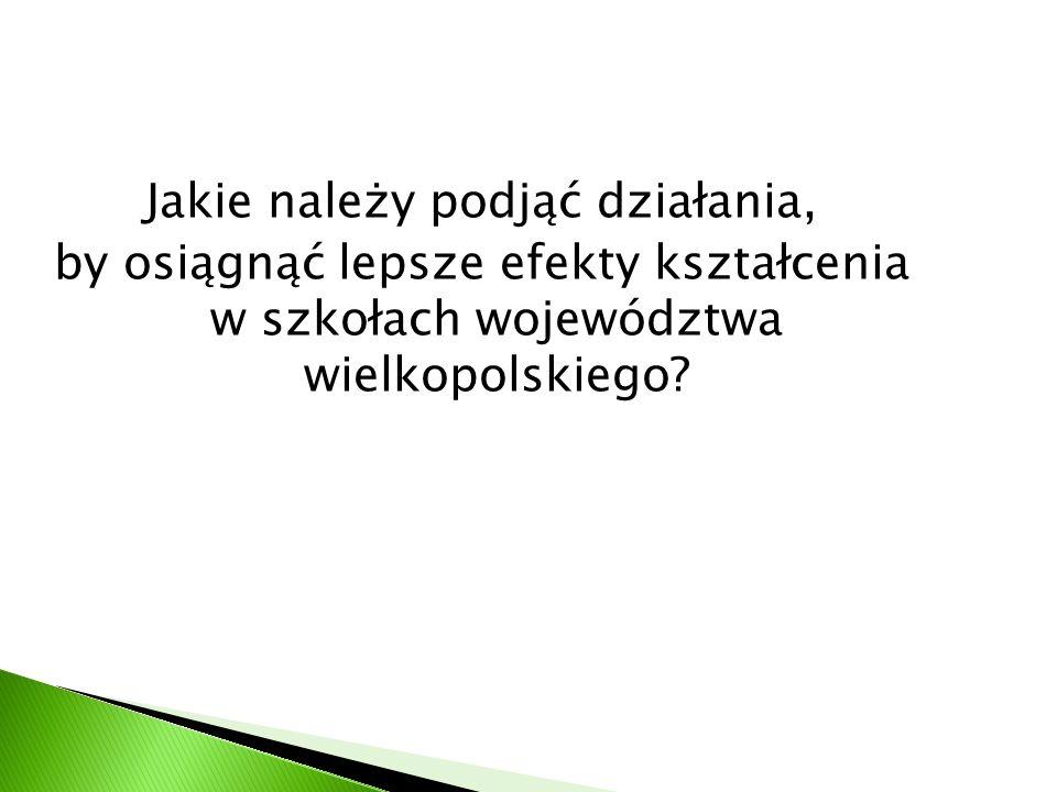 Jakie należy podjąć działania, by osiągnąć lepsze efekty kształcenia w szkołach województwa wielkopolskiego