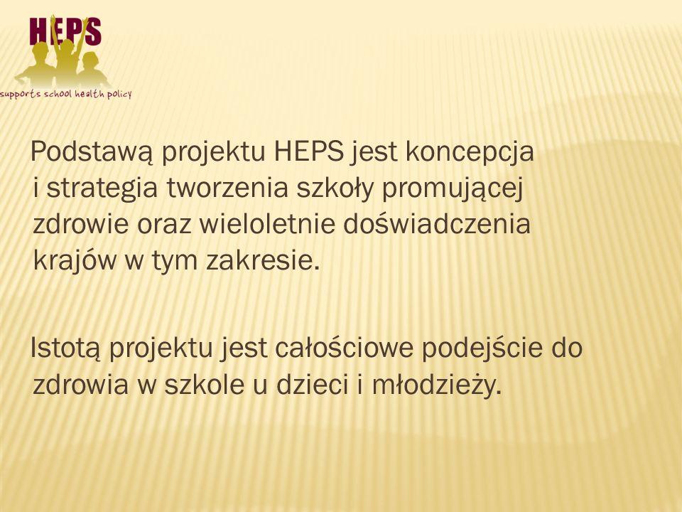 Podstawą projektu HEPS jest koncepcja i strategia tworzenia szkoły promującej zdrowie oraz wieloletnie doświadczenia krajów w tym zakresie.