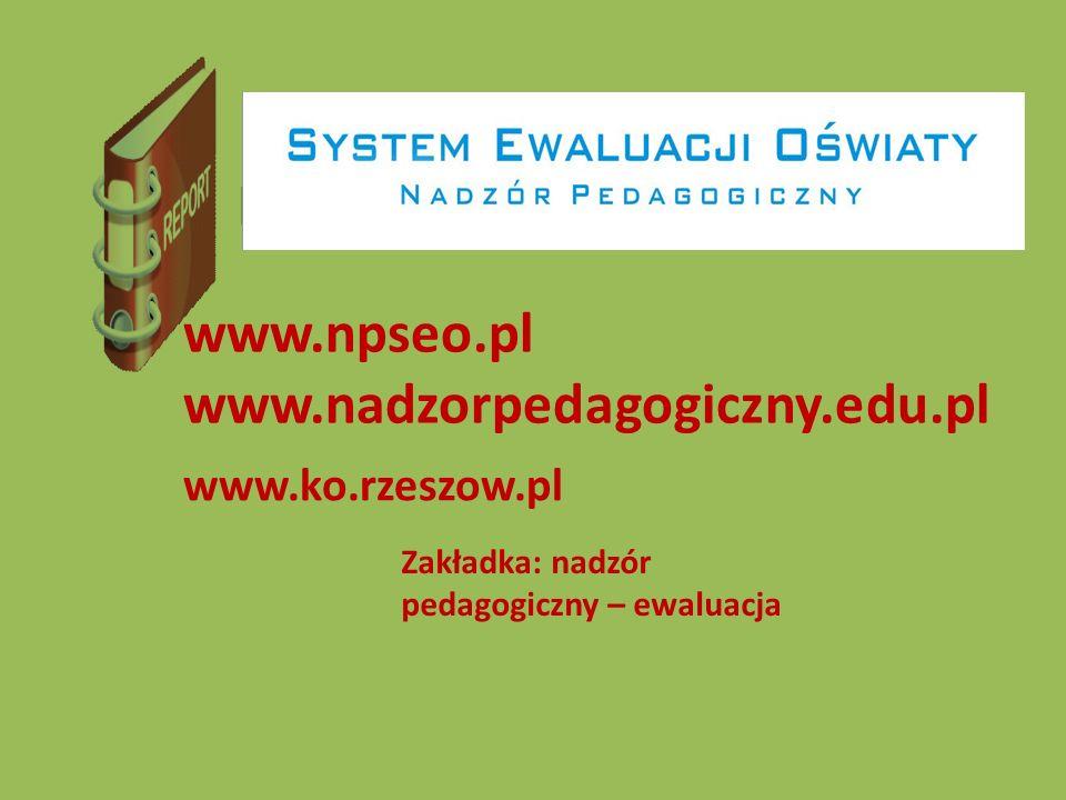 Raport www.npseo.pl www.nadzorpedagogiczny.edu.pl www.ko.rzeszow.pl