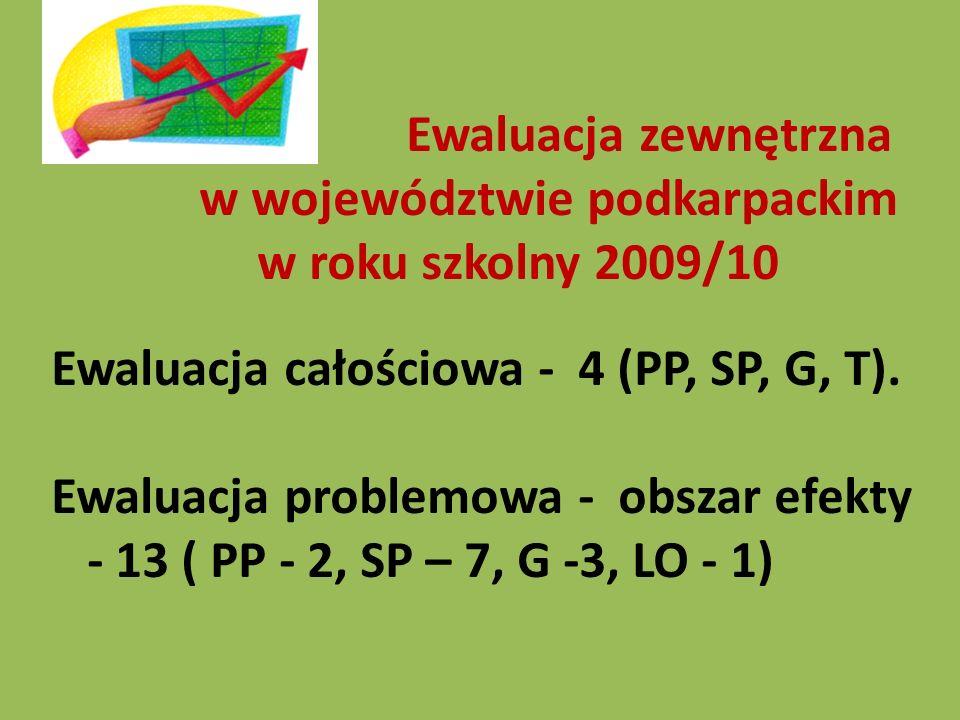 Ewaluacja całościowa - 4 (PP, SP, G, T).