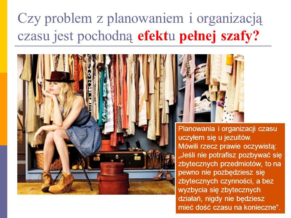 Czy problem z planowaniem i organizacją czasu jest pochodną efektu pełnej szafy