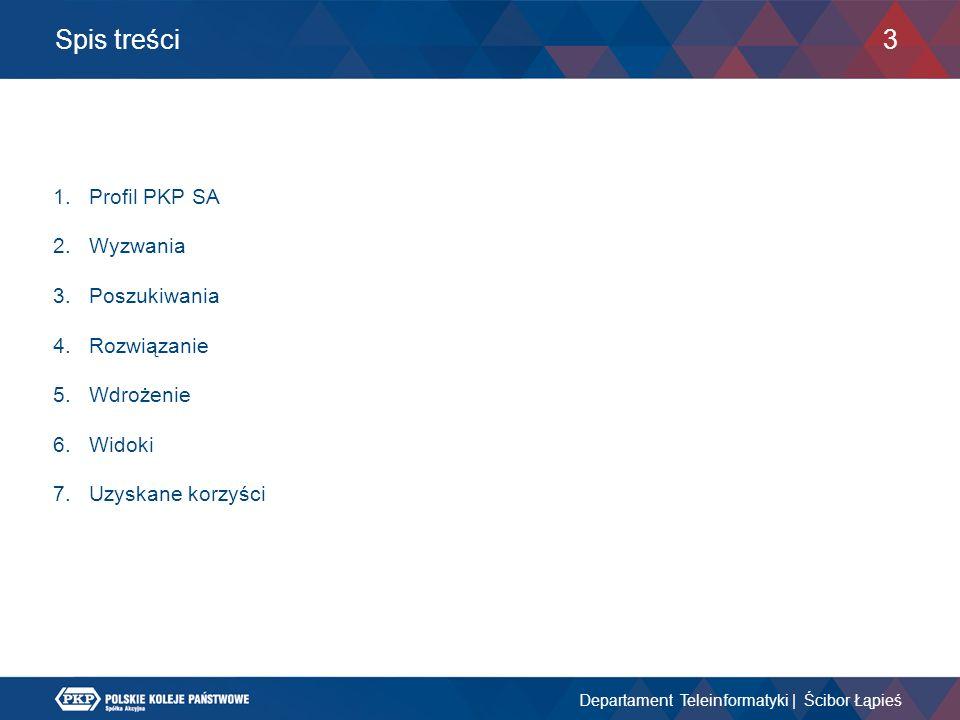 Spis treści Profil PKP SA Wyzwania Poszukiwania Rozwiązanie Wdrożenie