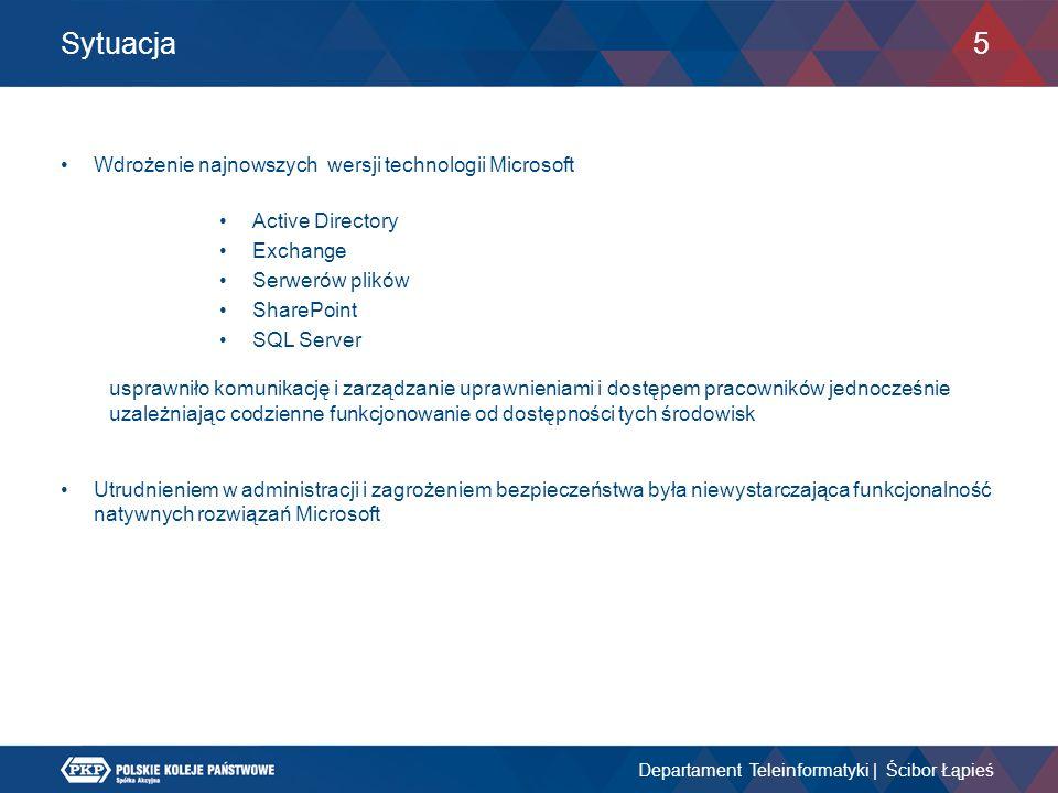 Sytuacja Wdrożenie najnowszych wersji technologii Microsoft