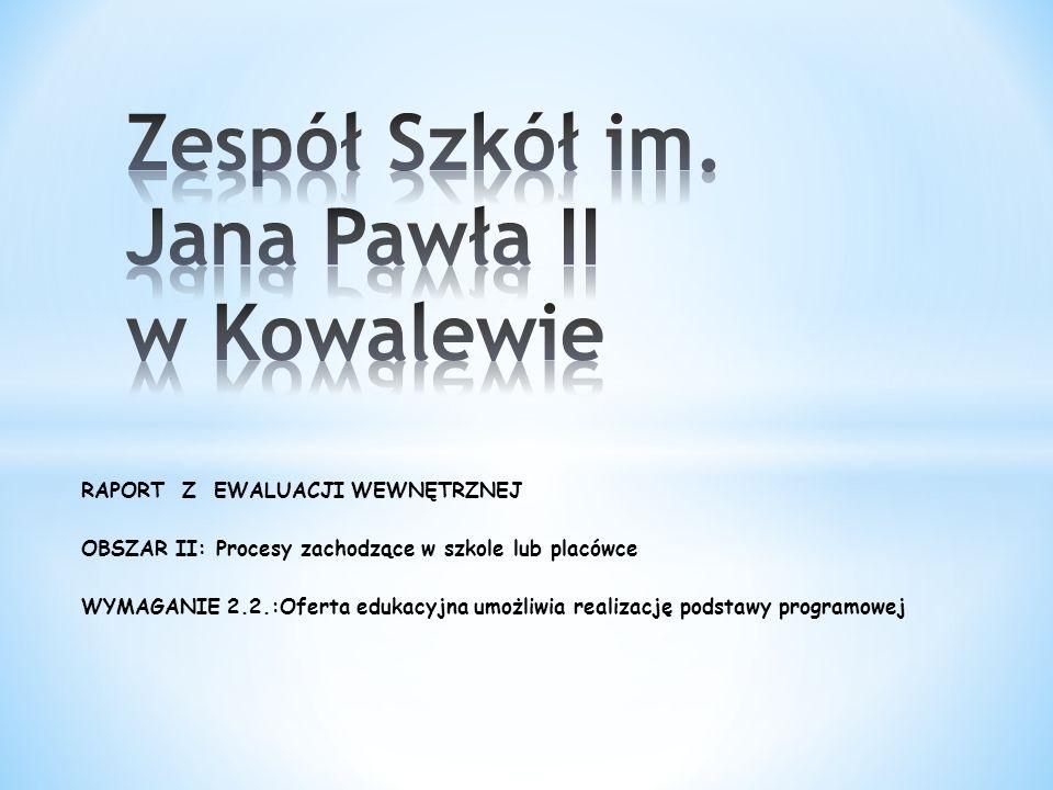 Zespół Szkół im. Jana Pawła II w Kowalewie