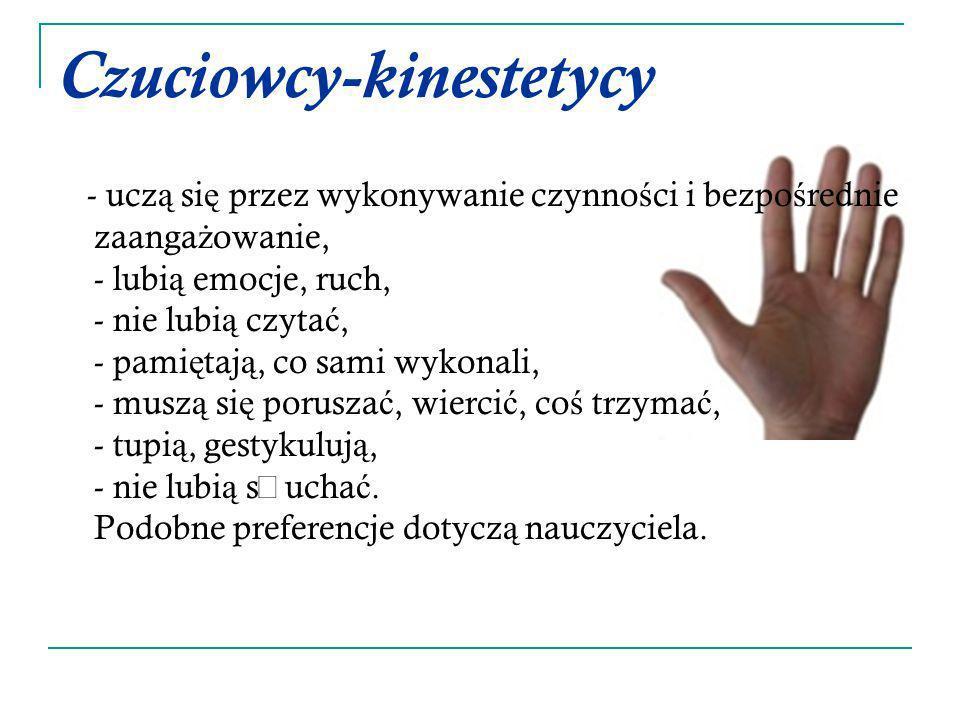 Czuciowcy-kinestetycy