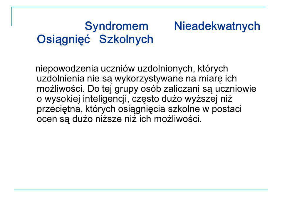 Syndromem Nieadekwatnych Osiągnięć Szkolnych