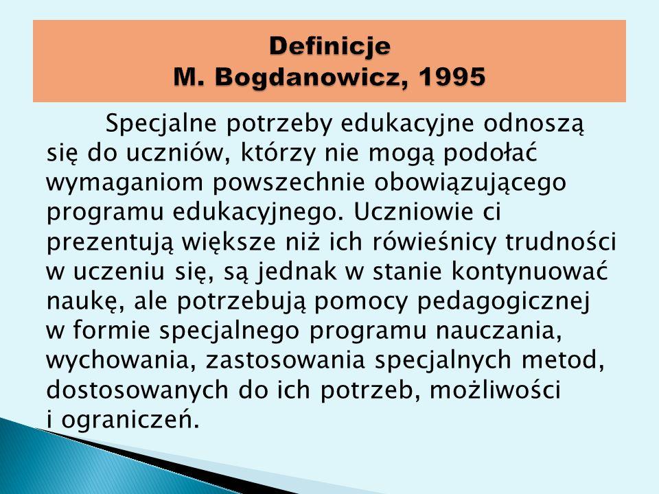 Definicje M. Bogdanowicz, 1995