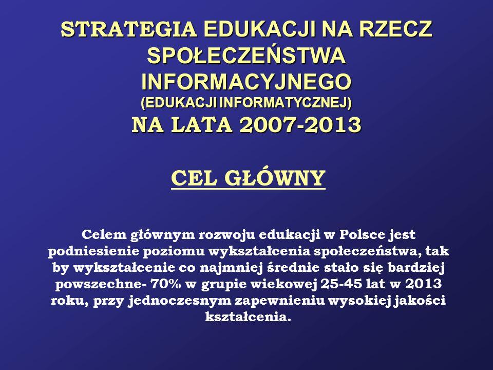 STRATEGIA EDUKACJI NA RZECZ SPOŁECZEŃSTWA INFORMACYJNEGO (EDUKACJI INFORMATYCZNEJ) NA LATA 2007-2013