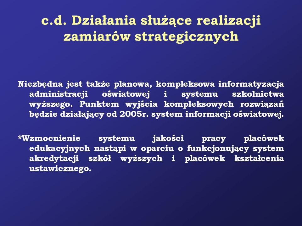 c.d. Działania służące realizacji zamiarów strategicznych