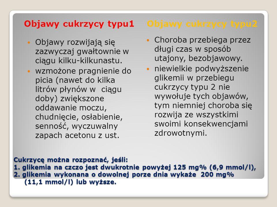 Objawy cukrzycy typu1 Objawy cukrzycy typu2