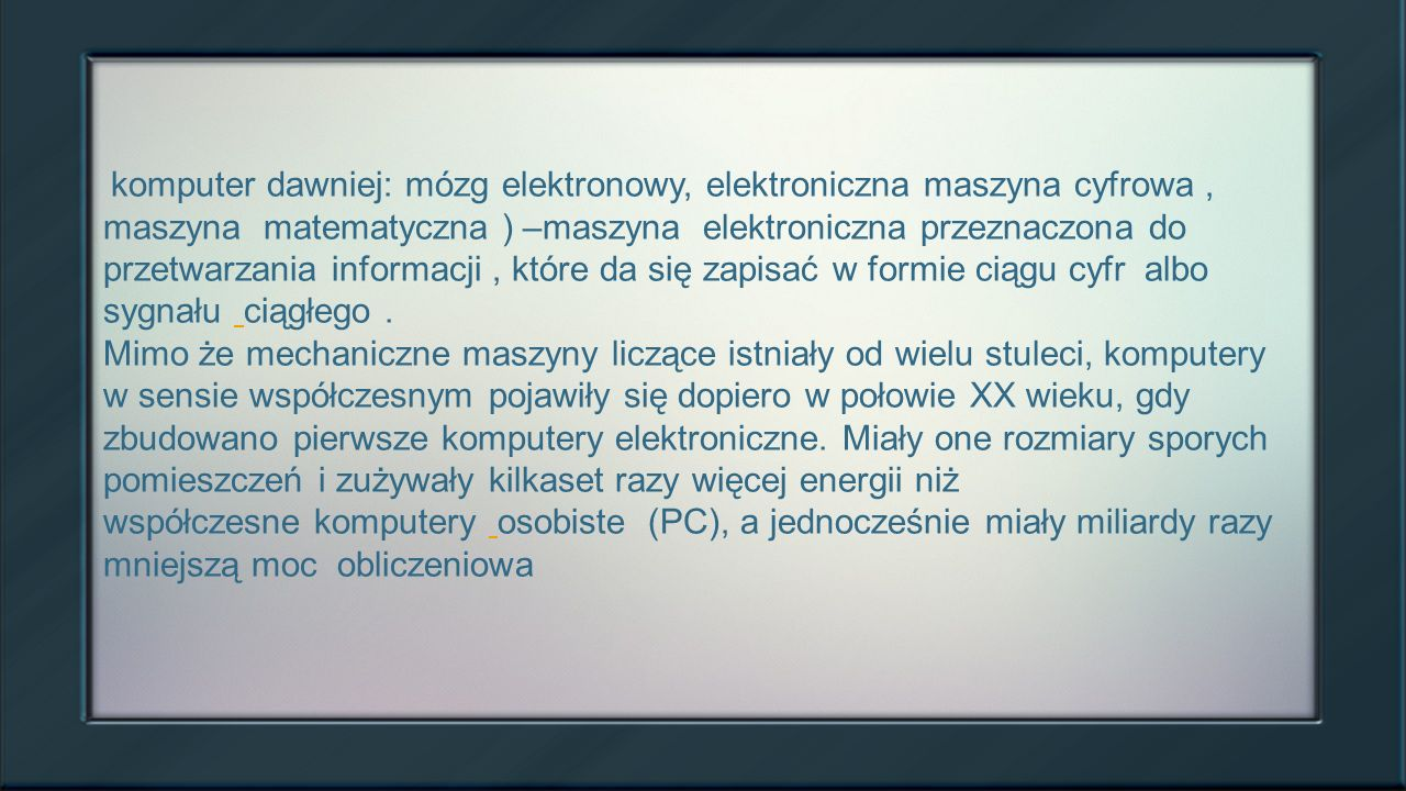 Informacje o komputerach