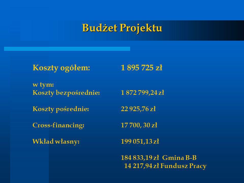 Budżet Projektu Koszty ogółem: 1 895 725 zł w tym: