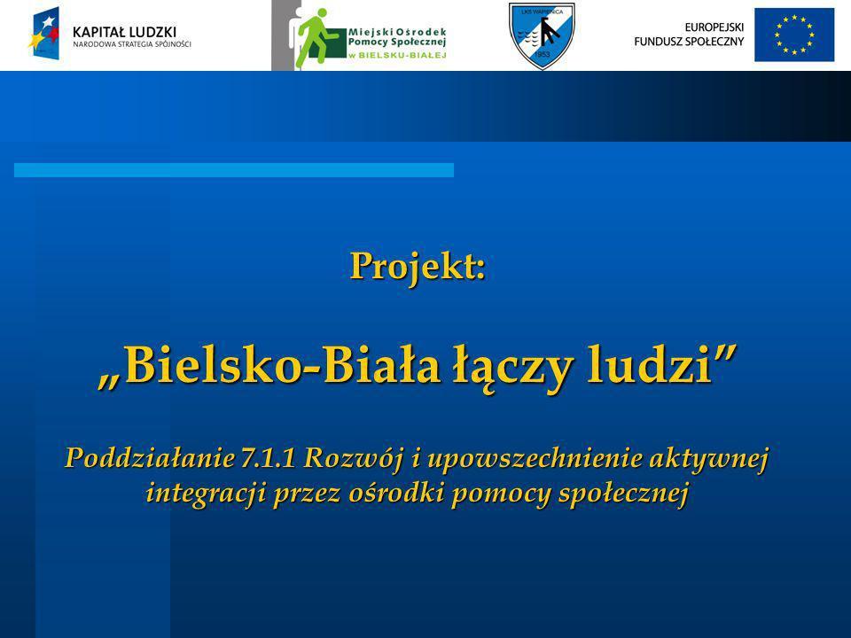 """Projekt: """"Bielsko-Biała łączy ludzi Poddziałanie 7. 1"""