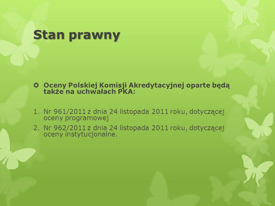 Stan prawnyOceny Polskiej Komisji Akredytacyjnej oparte będą także na uchwałach PKA: