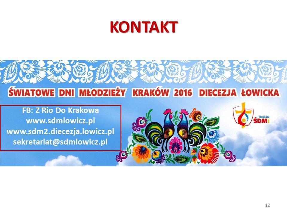 KONTAKT FB: Z Rio Do Krakowa www.sdmlowicz.pl