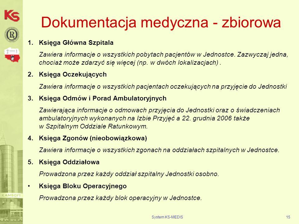 Dokumentacja medyczna - zbiorowa