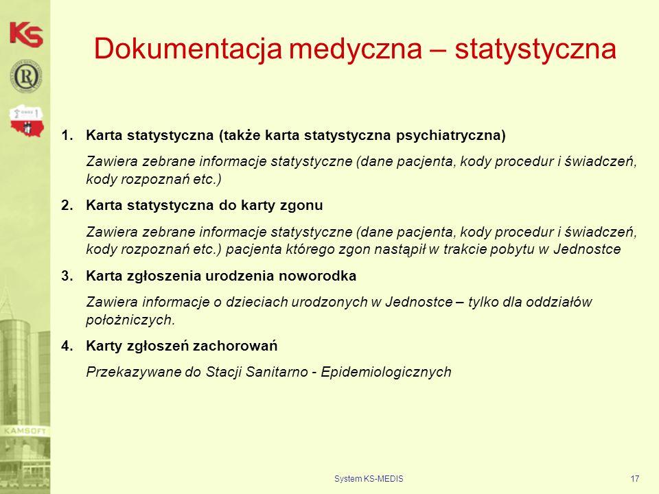 Dokumentacja medyczna – statystyczna