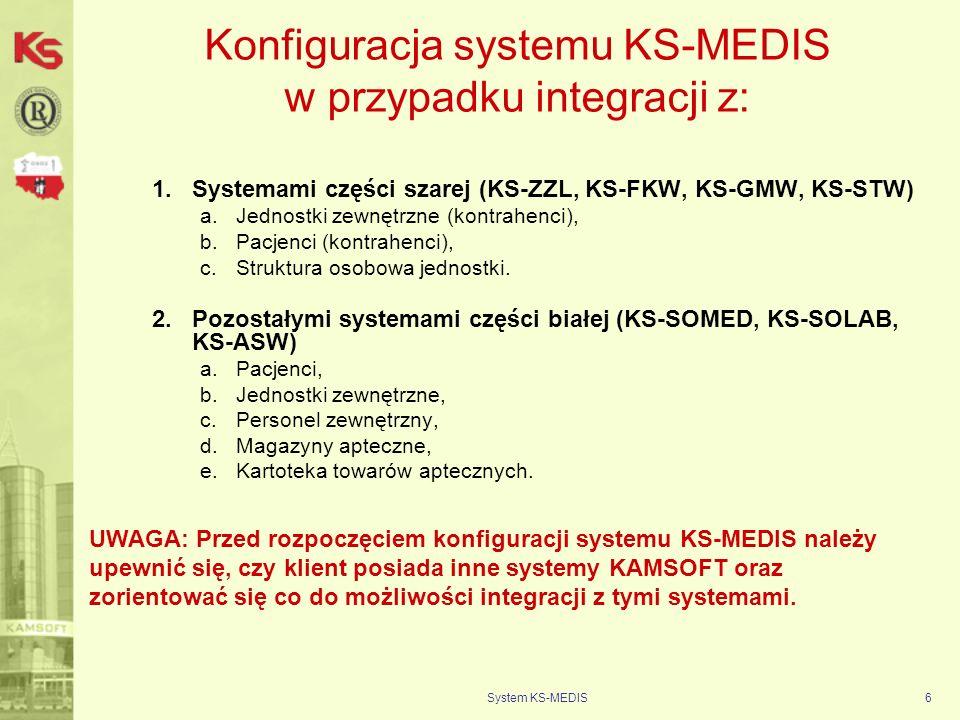 Konfiguracja systemu KS-MEDIS w przypadku integracji z: