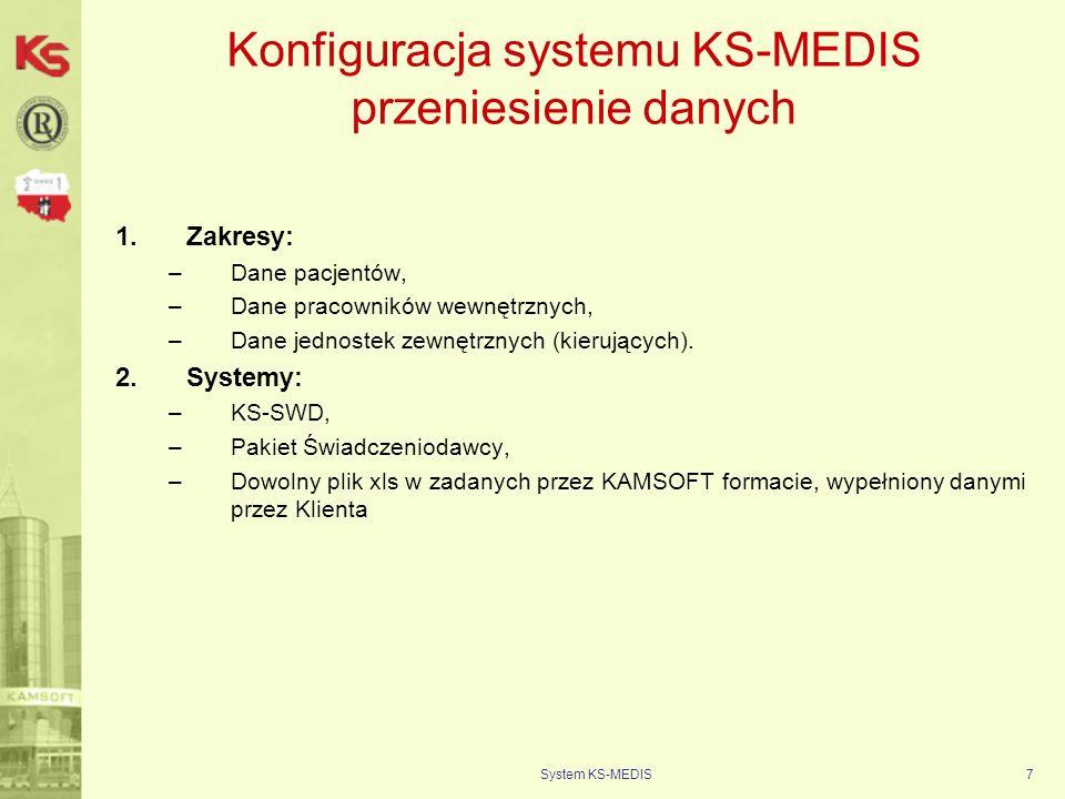 Konfiguracja systemu KS-MEDIS przeniesienie danych
