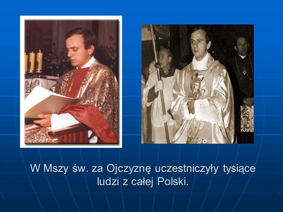 W Mszy św. za Ojczyznę uczestniczyły tysiące ludzi z całej Polski.
