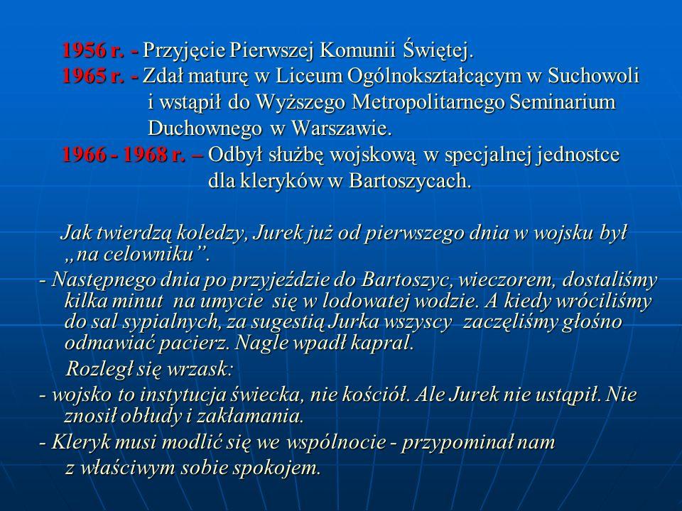 1956 r. - Przyjęcie Pierwszej Komunii Świętej.