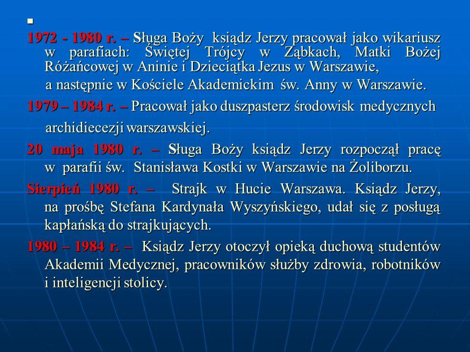 a następnie w Kościele Akademickim św. Anny w Warszawie.