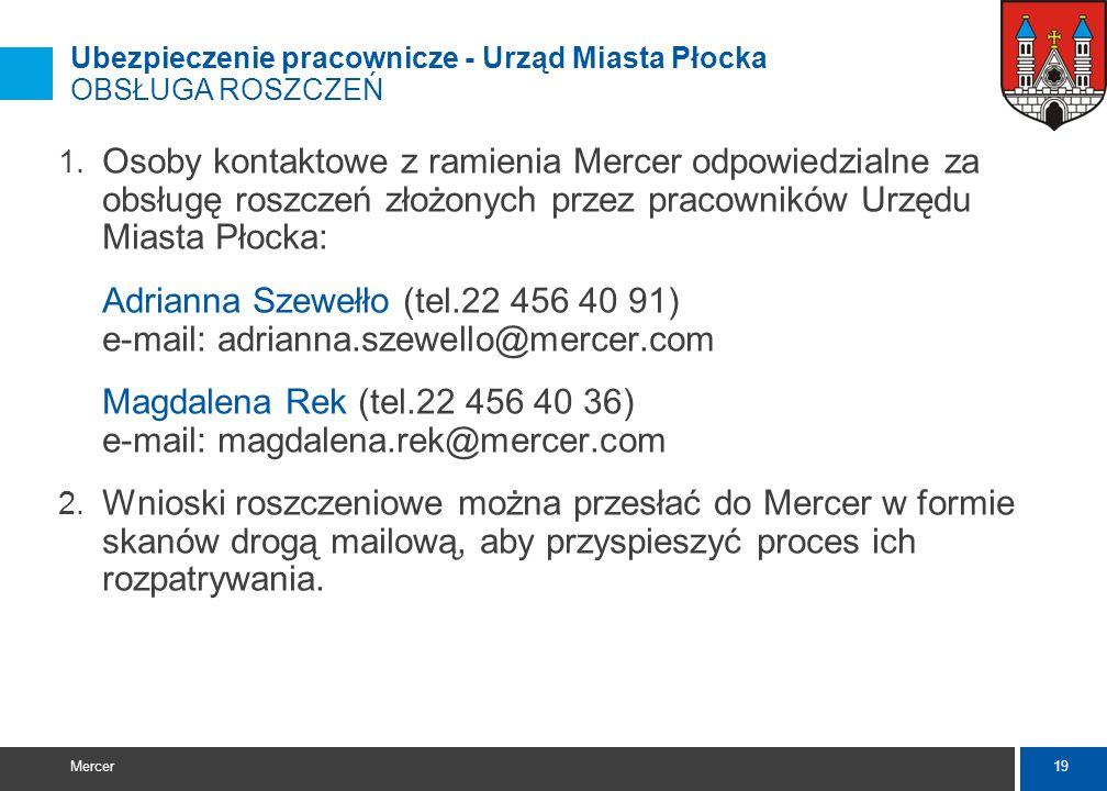 Magdalena Rek (tel.22 456 40 36) e-mail: magdalena.rek@mercer.com