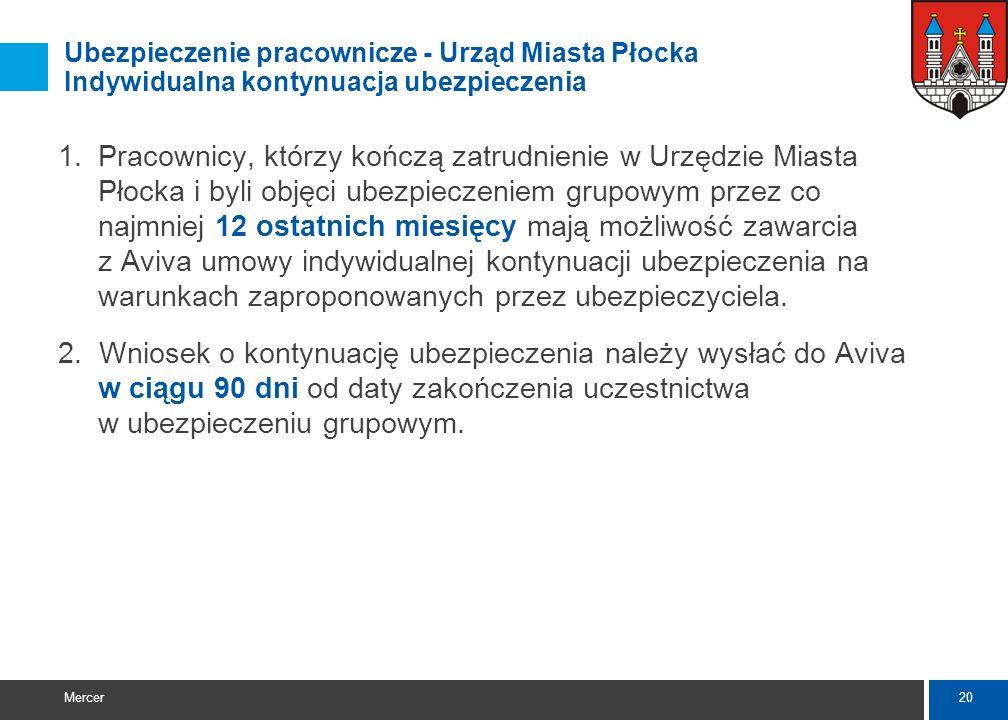 Ubezpieczenie pracownicze - Urząd Miasta Płocka Indywidualna kontynuacja ubezpieczenia