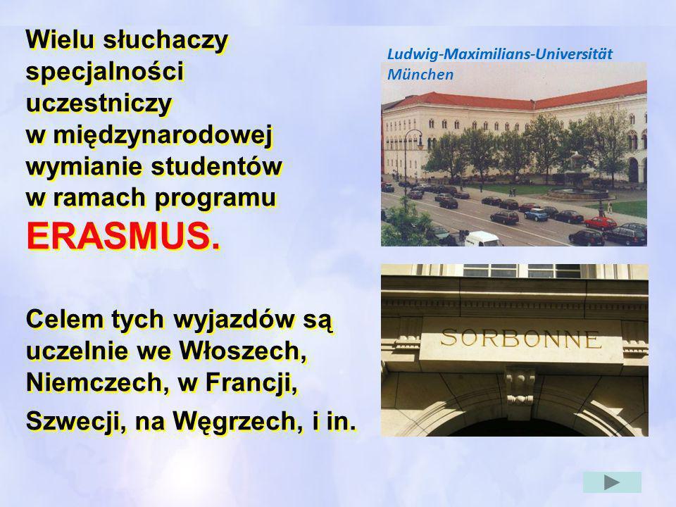 w ramach programu ERASMUS.