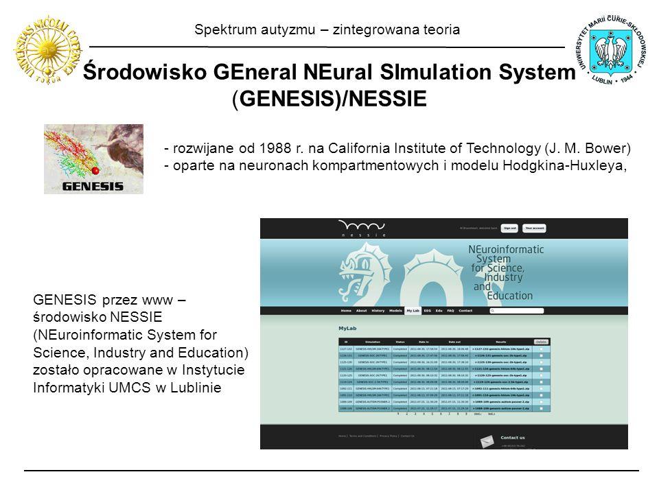 Środowisko GEneral NEural SImulation System (GENESIS)/NESSIE