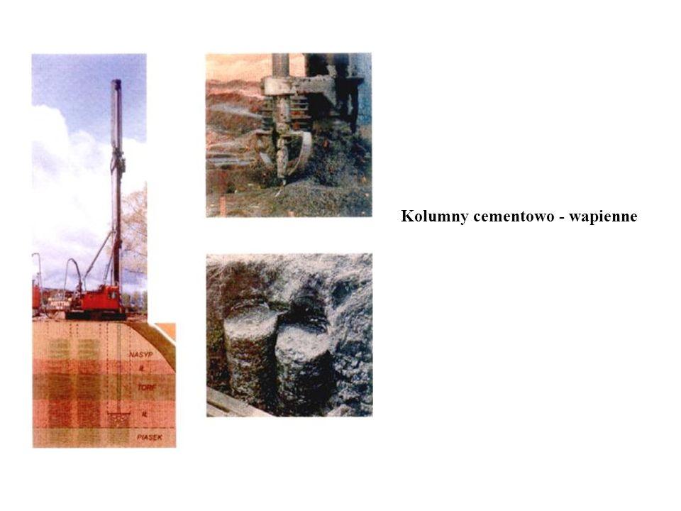 Kolumny cementowo - wapienne