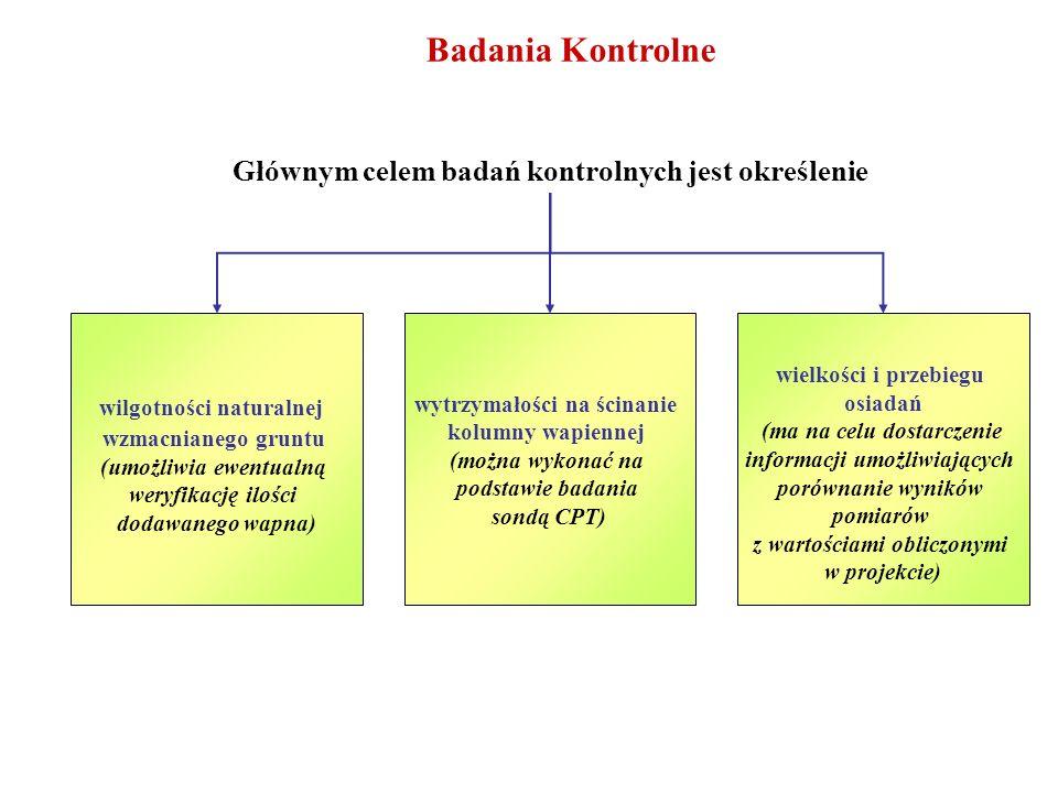 Badania Kontrolne Głównym celem badań kontrolnych jest określenie