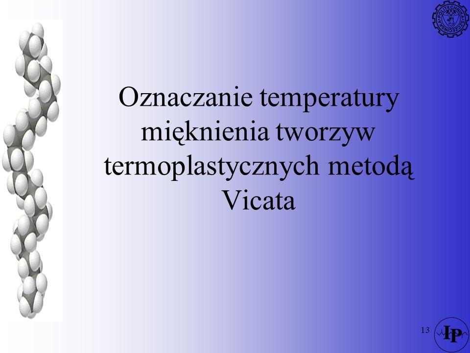 Oznaczanie temperatury mięknienia tworzyw termoplastycznych metodą Vicata