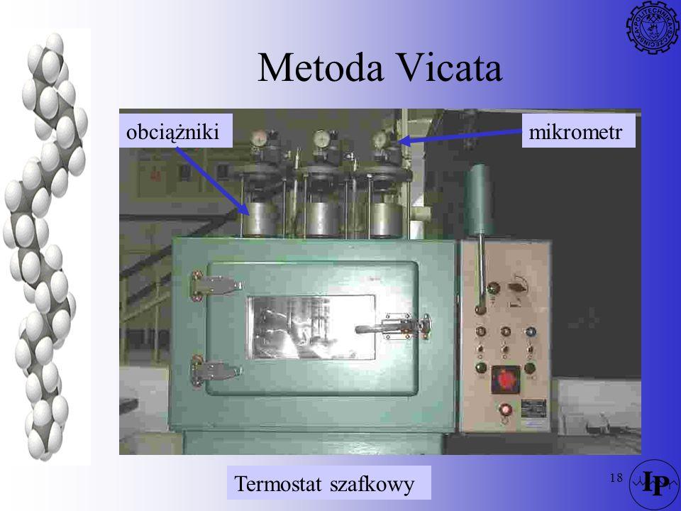 Metoda Vicata obciążniki mikrometr Termostat szafkowy