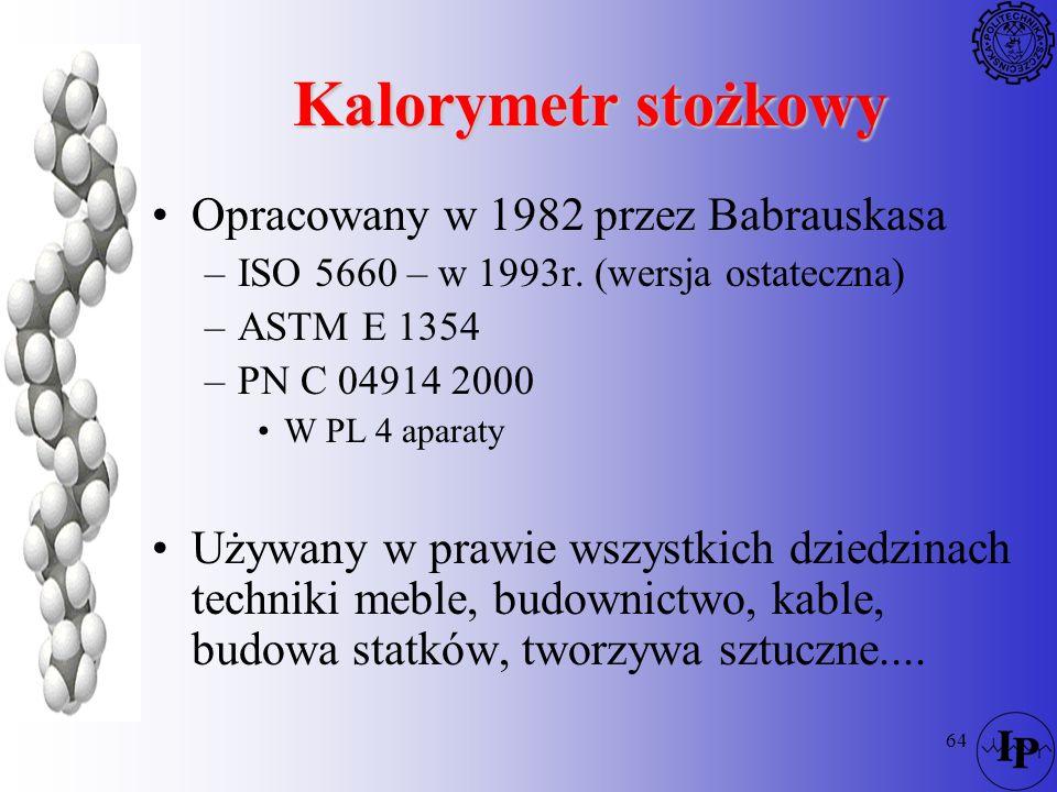 Kalorymetr stożkowy Opracowany w 1982 przez Babrauskasa