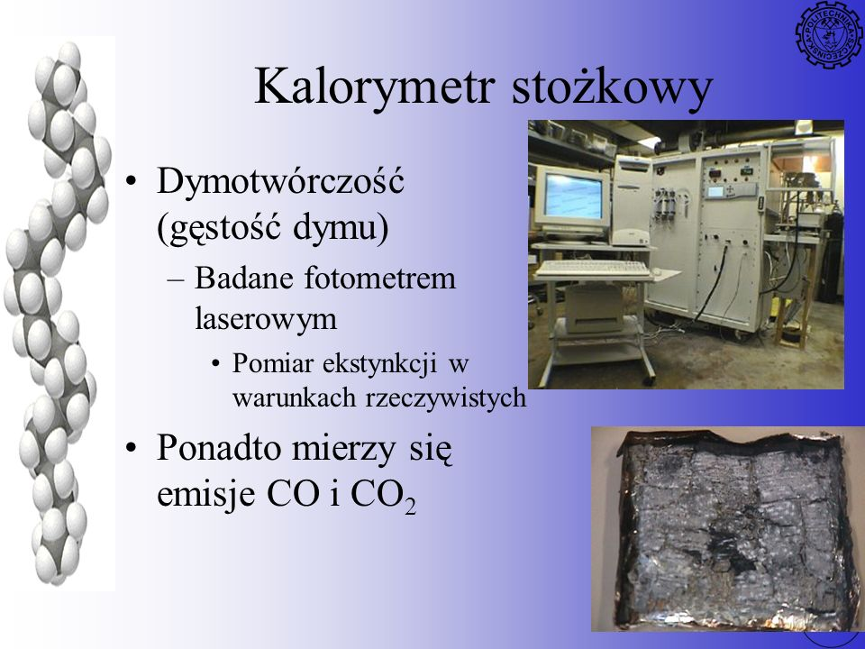 Kalorymetr stożkowy Dymotwórczość (gęstość dymu)