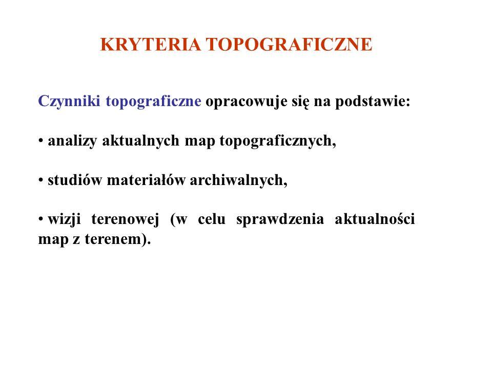 KRYTERIA TOPOGRAFICZNE