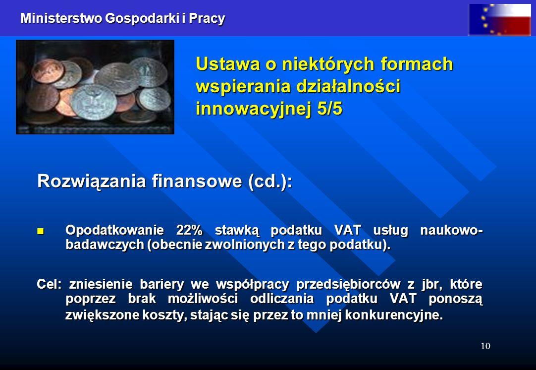 Ustawa o niektórych formach wspierania działalności innowacyjnej 5/5