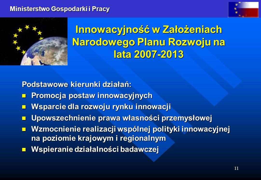 Innowacyjność w Założeniach Narodowego Planu Rozwoju na lata 2007-2013
