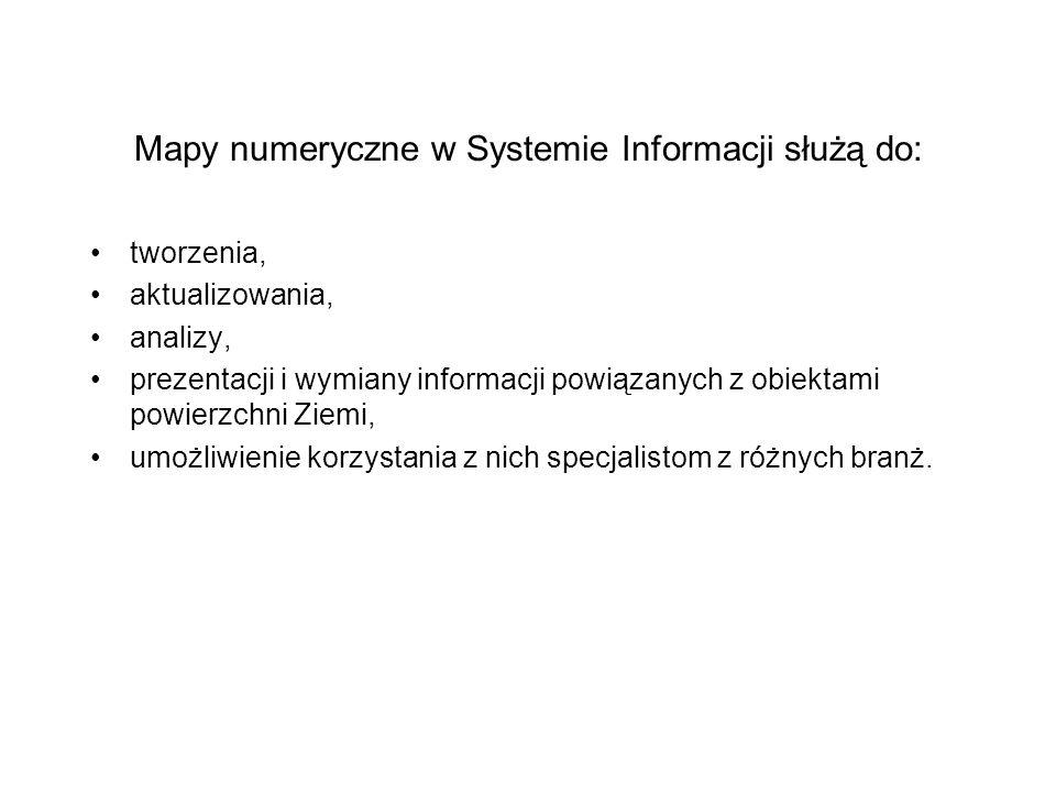 Mapy numeryczne w Systemie Informacji służą do: