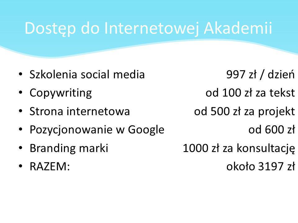 Dostęp do Internetowej Akademii