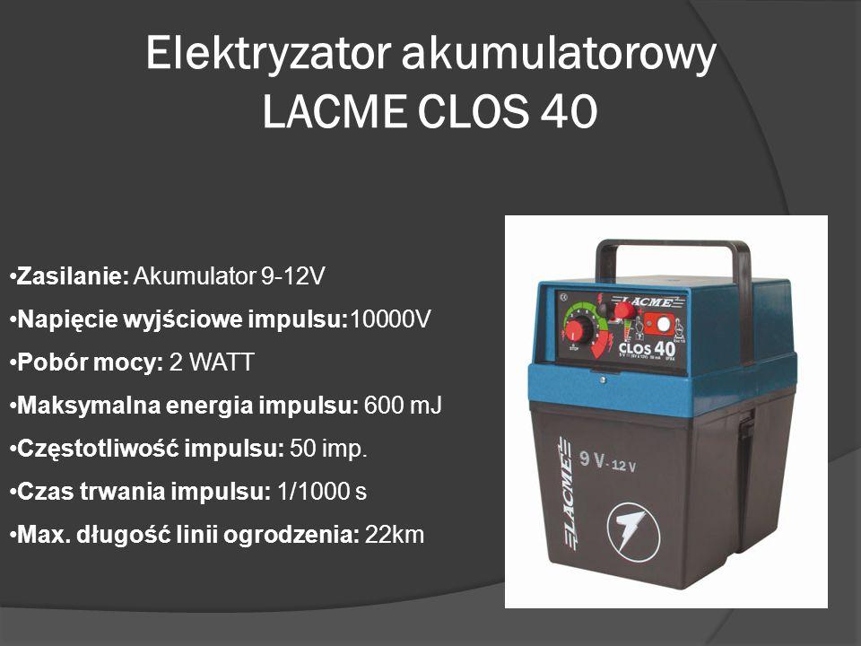 Elektryzator akumulatorowy LACME CLOS 40