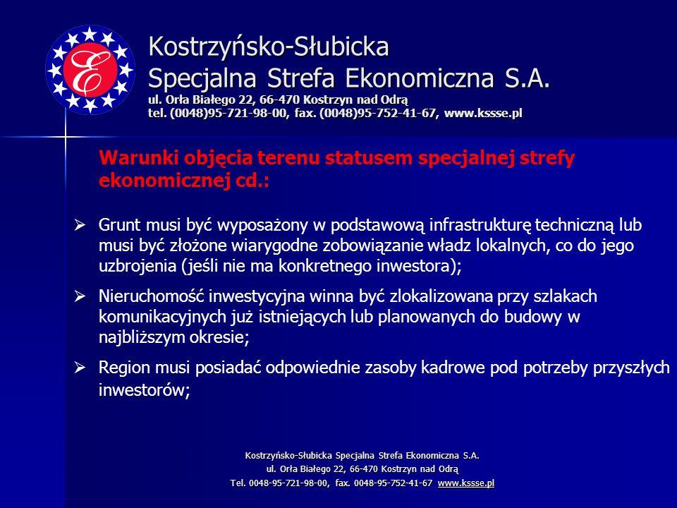 Kostrzyńsko-Słubicka Specjalna Strefa Ekonomiczna S. A. ul